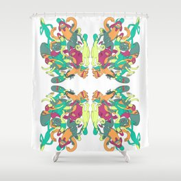 That-a-way Shower Curtain