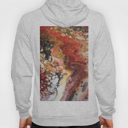 strange visions 18, acrylic abstract painting, red, black, white Hoody