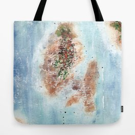 Abstract Islands Watercolor Painting Tote Bag