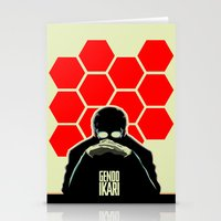 evangelion Stationery Cards featuring Gendo Ikari from Evangelion. Super Dad. by Barrett Biggers
