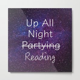 Up All Night Purple Metal Print