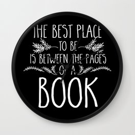 Between the Pages (inverted) Wall Clock