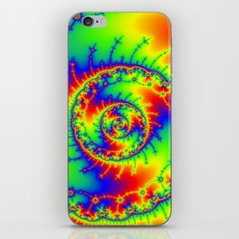 """""""Psyspiral"""" Psychedelic Spiral Fractal Art iPhone Skin"""