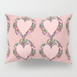Old Fashioned Pink Heart Pillow Sham