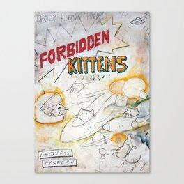 Forbidden kittens Canvas Print