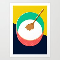 baking Art Prints featuring Baking Bowl by Sam Osborne
