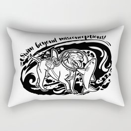 Lexy & Bruce - Swim beyond misconceptions! Rectangular Pillow