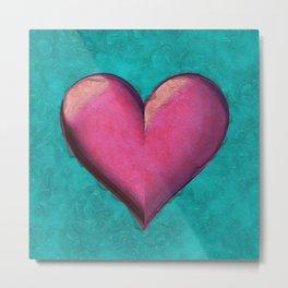 Big pink heart Metal Print