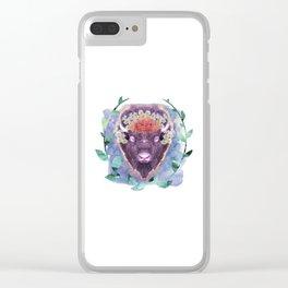 Get along little, Buffalo. Clear iPhone Case