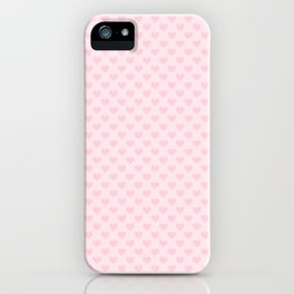 Large Light Soft Pastel Pink Love Hearts iPhone Case