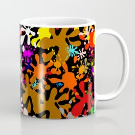 Colourful Fun Paint Blots and Stains Coffee Mug