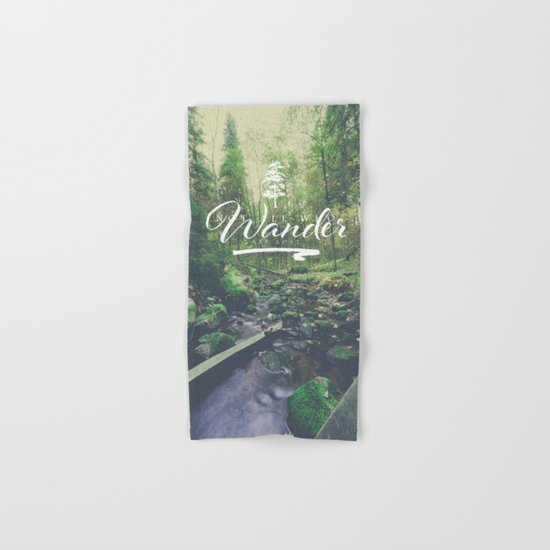 Mountain of solitude - text version Hand & Bath Towel