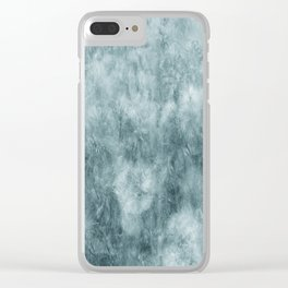 Blue thistle Clear iPhone Case