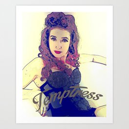 1950's Temptress Pin Up Art Print