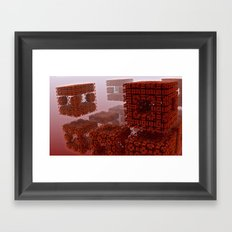 The strange attraction of particles making-out in hell Framed Art Print