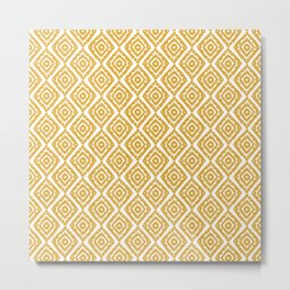 Geometric Art, Aztec Prints, Mustard Yellow, Boho Prints Metal Print
