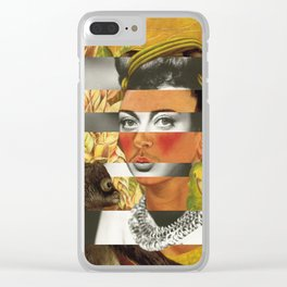 Frida Kahlo's Self Portrait with Parrot & Joan Crawford Clear iPhone Case