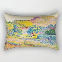 Henri-Edmond Cross Neo-Impressionism Landschaft mit Le Cap Nègre Paysage avec le cap Nègre Rectangular Pillow