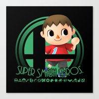 super smash bros Canvas Prints featuring Villager - Super Smash Bros. by Donkey Inferno
