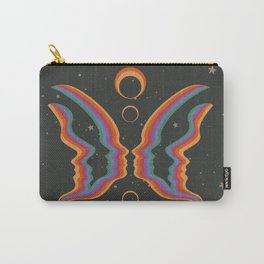 Rainbow Butterfly People Carry-All Pouch