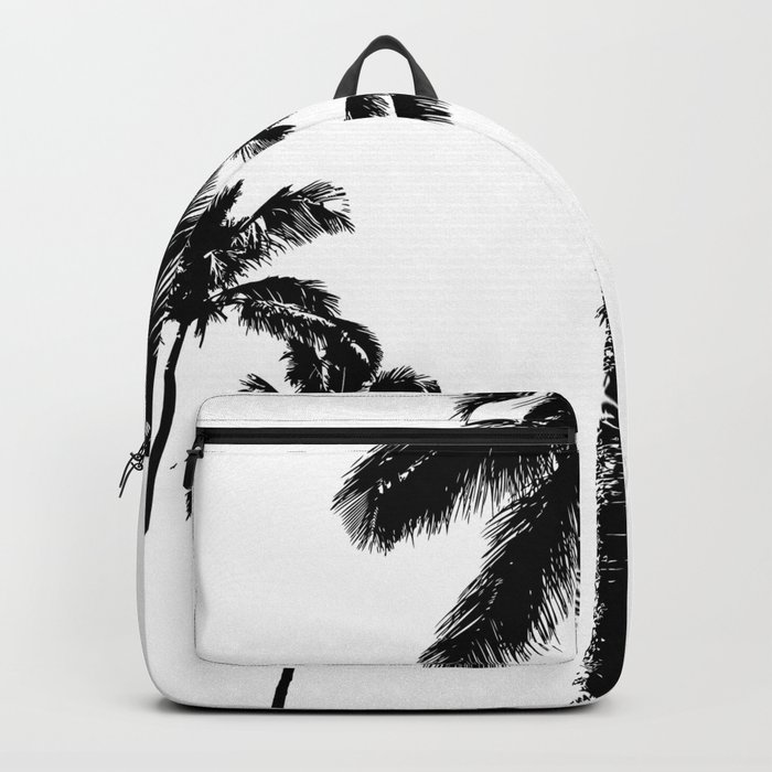 Monochrome tropical palms Backpack