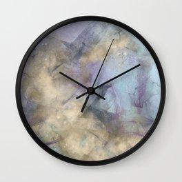 Teal, Purple, Gold Geode Wall Clock