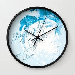 """Daylight Hole Speeding Ahead"" Wall Clock"