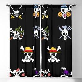 One Piece Art Print Blackout Curtain