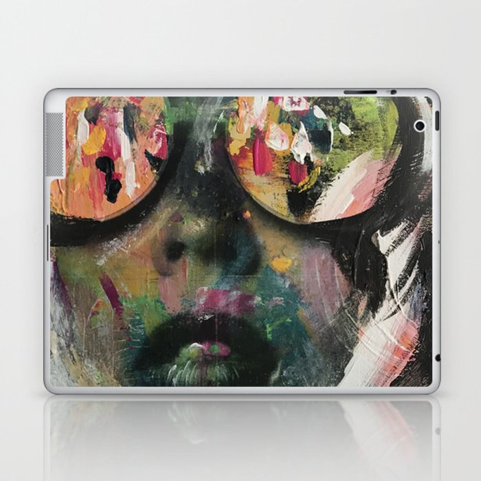 wild one mixed media, collage, vintage photography, bold, bright, beautiful Laptop & iPad Skin