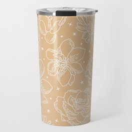 Celestial Star Pattern lines with the shapes XI Travel Mug