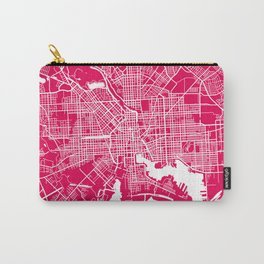 Baltimore map rapsberry Carry-All Pouch