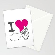 I LOVE TO F**K Stationery Cards