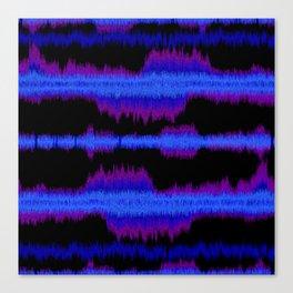 sound shock waves_boy Canvas Print