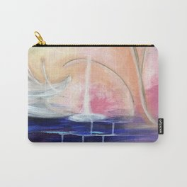 Flourescent Waterfall Painting. Waterfall, Abstract, Blue, Pink. Water. Jodilynpaintings. Carry-All Pouch