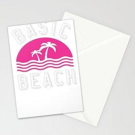 BASIC BEACH RACERBACK TANK Stationery Cards