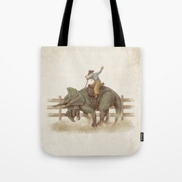 Dino Rodeo  Tote Bag