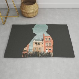 Hitchcock - Rear Window Silhouette Illustration by Burro Rug
