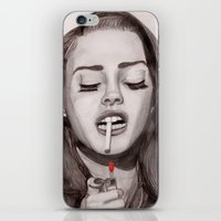 ultraviolence iPhone & iPod Skins featuring Ultraviolence by MarryTheSequins