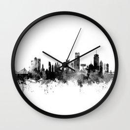 Boston Massachusetts Skyline Wall Clock