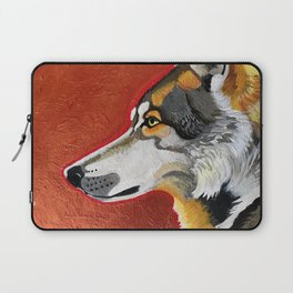 Wolf and Copper Laptop Sleeve