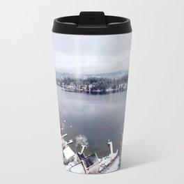 Clear Lake in Winter Travel Mug