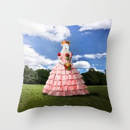 Semolina Sheep on Her Way to the Ball Throw Pillow