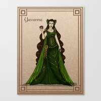 valar morghulis Canvas Prints featuring Yavanna by wolfanita