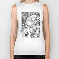 koi fish Biker Tanks featuring Koi Fish by Disturbed