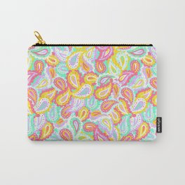 Colorful paisley Carry-All Pouch