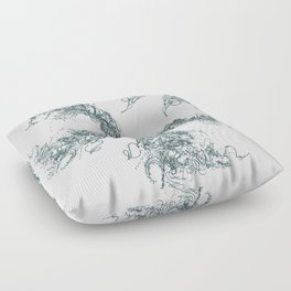 Study in Symmetry (No. 2) | Slate grey Floor Pillow