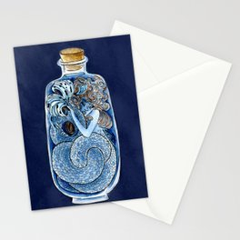 Mermaid in a Bottle Stationery Cards