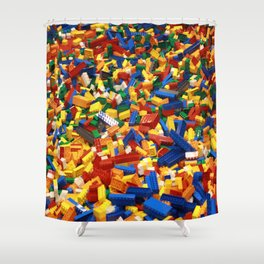 A Sea Full of Legos Shower Curtain