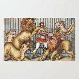 The Lion Tamer - Vintage Circus Art, 1873 Rug