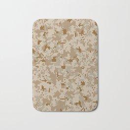 Desert Digital Camouflage Pattern Bath Mat